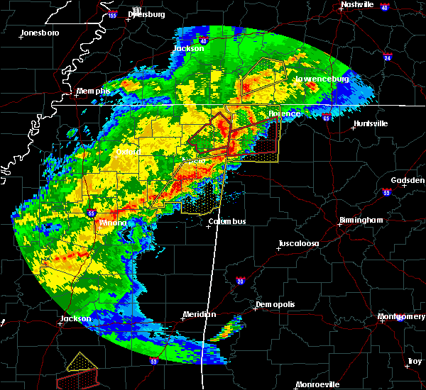 Radar Image for Severe Thunderstorms near Cherokee, AL at 12/16/2019 4:35 PM CST