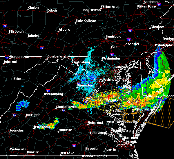 Radar Image for Severe Thunderstorms near St. Leonard, MD at 6/23/2015 9:32 PM EDT