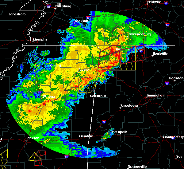Radar Image for Severe Thunderstorms near Hamilton, MS at 12/16/2019 5:05 PM CST