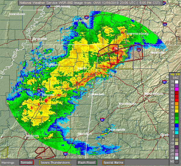 Radar Image for Severe Thunderstorms near Florence, AL at 12/16/2019 5:08 PM CST