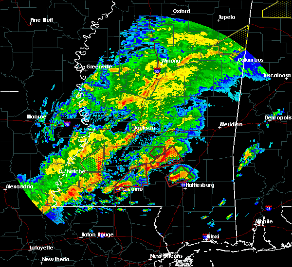 Radar Image for Severe Thunderstorms near New Hebron, MS at 12/16/2019 5:27 PM CST