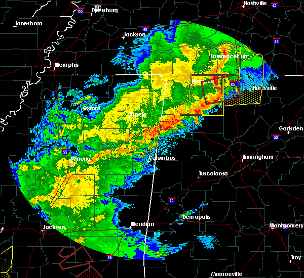 Radar Image for Severe Thunderstorms near Town Creek, AL at 12/16/2019 5:28 PM CST