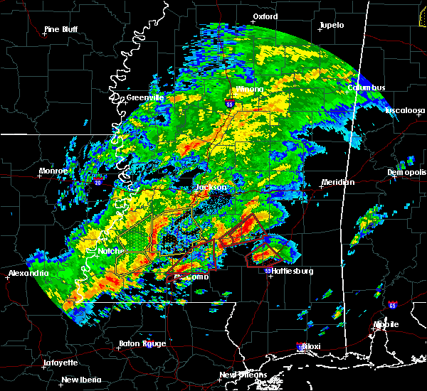 Radar Image for Severe Thunderstorms near Crystal Springs, MS at 12/16/2019 5:33 PM CST