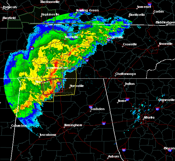 Radar Image for Severe Thunderstorms near Athens, AL at 12/16/2019 5:37 PM CST