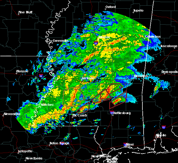 Radar Image for Severe Thunderstorms near Crystal Springs, MS at 12/16/2019 5:58 PM CST