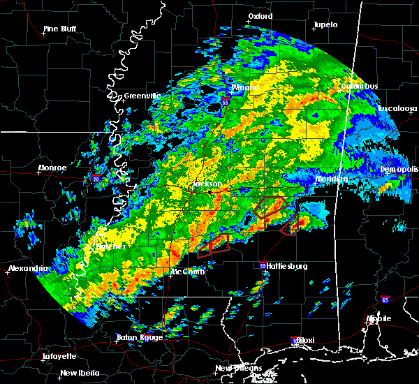 Radar Image for Severe Thunderstorms near Bay Springs, MS at 12/16/2019 6:25 PM CST