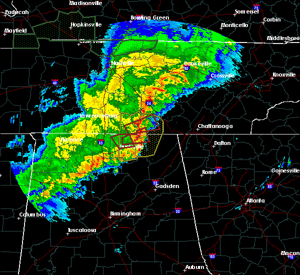 Radar Image for Severe Thunderstorms near Hytop, AL at 12/16/2019 6:30 PM CST