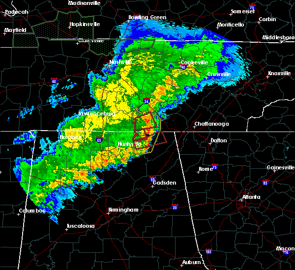 Radar Image for Severe Thunderstorms near Hytop, AL at 12/16/2019 6:41 PM CST
