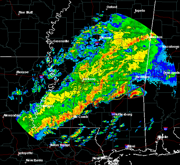 Radar Image for Severe Thunderstorms near Bay Springs, MS at 12/16/2019 6:42 PM CST
