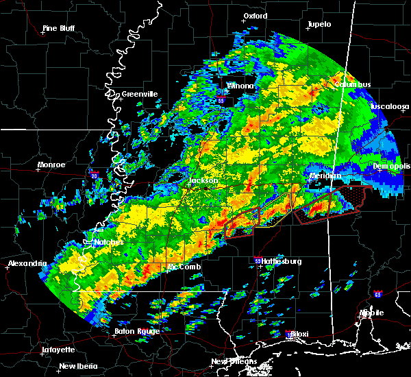 Radar Image for Severe Thunderstorms near Bay Springs, MS at 12/16/2019 6:56 PM CST