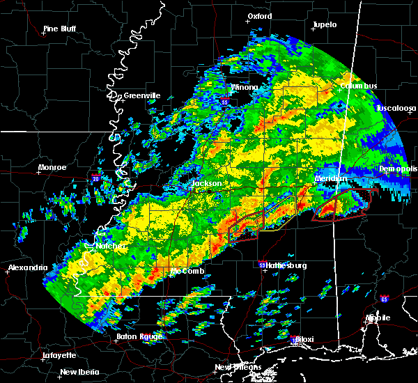 Radar Image for Severe Thunderstorms near Bay Springs, MS at 12/16/2019 7:06 PM CST