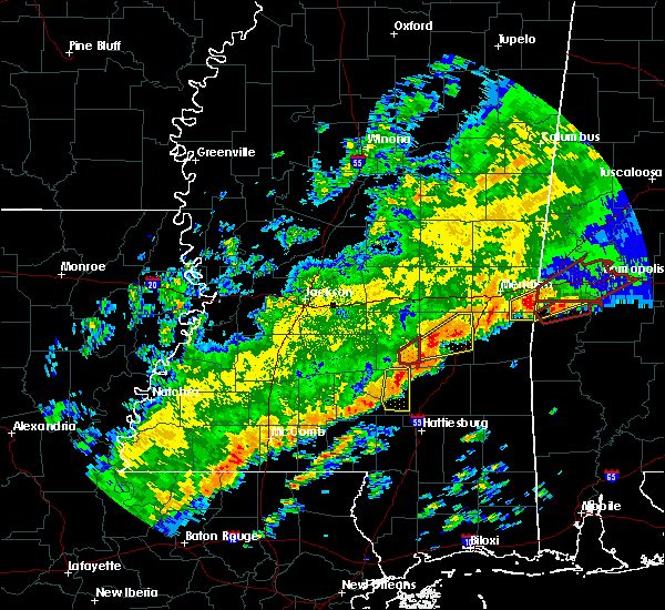 Radar Image for Severe Thunderstorms near Bay Springs, MS at 12/16/2019 7:43 PM CST