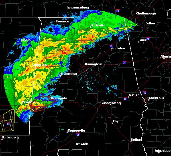 Radar Image for Severe Thunderstorms near Bellamy, AL at 12/16/2019 7:53 PM CST