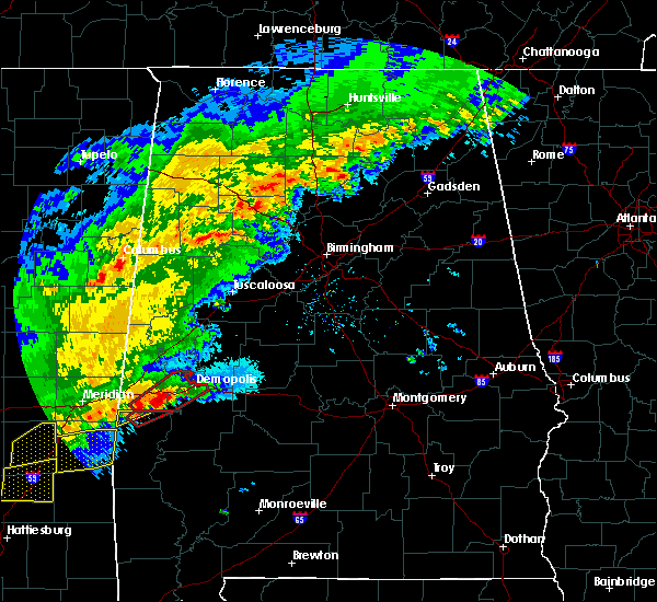 Radar Image for Severe Thunderstorms near Bellamy, AL at 12/16/2019 8:01 PM CST