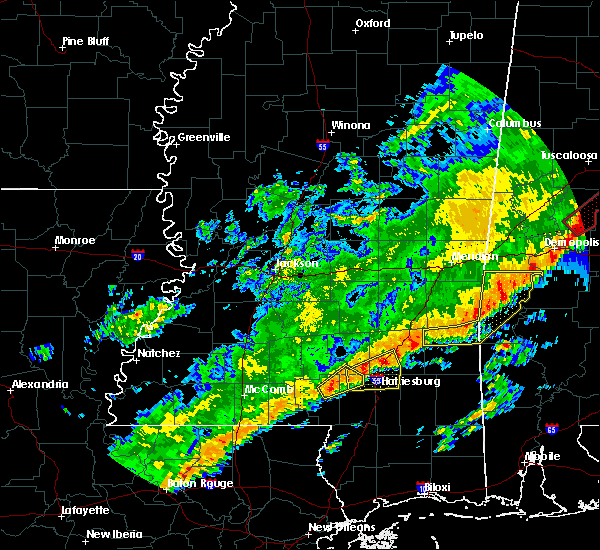 Radar Image for Severe Thunderstorms near Glendale, MS at 12/16/2019 8:56 PM CST