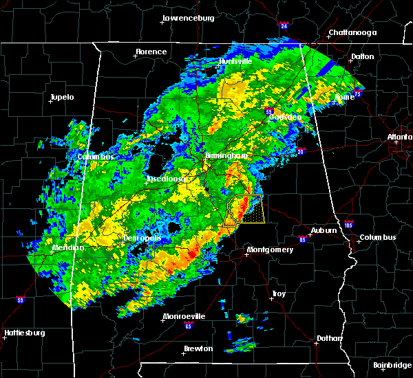 Radar Image for Severe Thunderstorms near Mount Olive, AL at 12/16/2019 10:43 PM CST