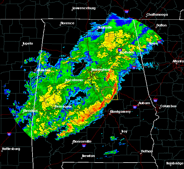 Radar Image for Severe Thunderstorms near Mount Olive, AL at 12/16/2019 10:58 PM CST
