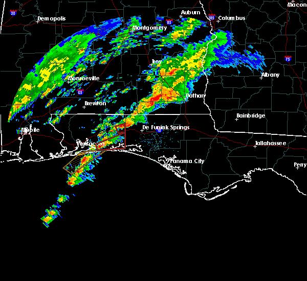 Radar Image for Severe Thunderstorms near Ocean City, FL at 12/17/2019 3:17 AM CST