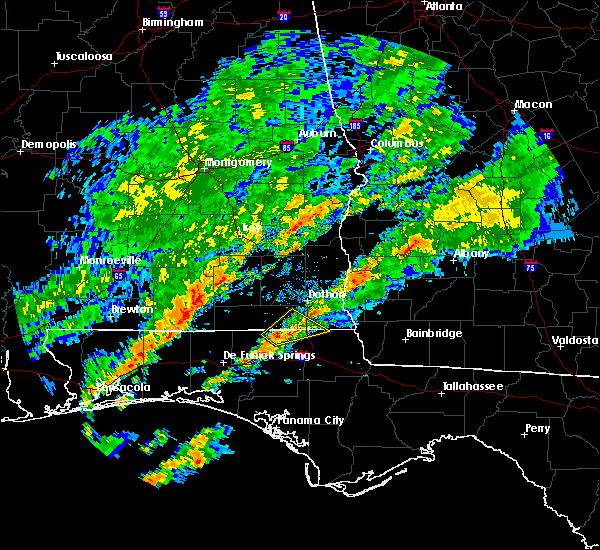 Radar Image for Severe Thunderstorms near Cottonwood, AL at 12/17/2019 6:35 AM CST