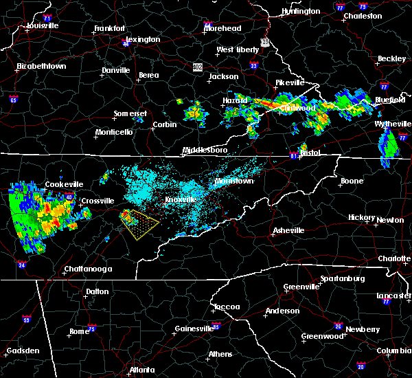 Radar Image for Severe Thunderstorms near Oak Ridge, TN at 6/23/2015 10:56 PM EDT
