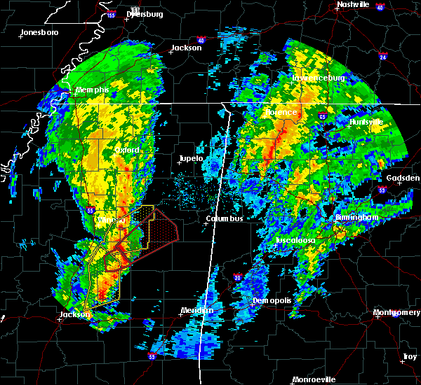 Radar Image for Severe Thunderstorms near Mississippi State, MS at 12/29/2019 4:05 PM CST