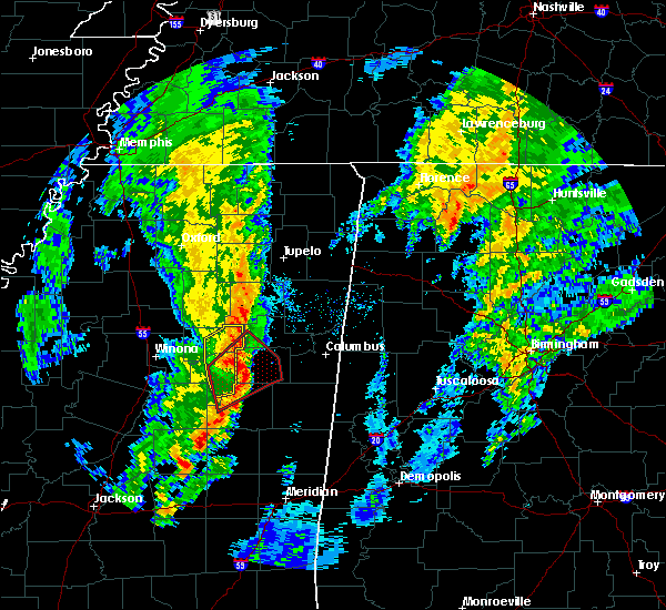 Radar Image for Severe Thunderstorms near Mississippi State, MS at 12/29/2019 4:36 PM CST