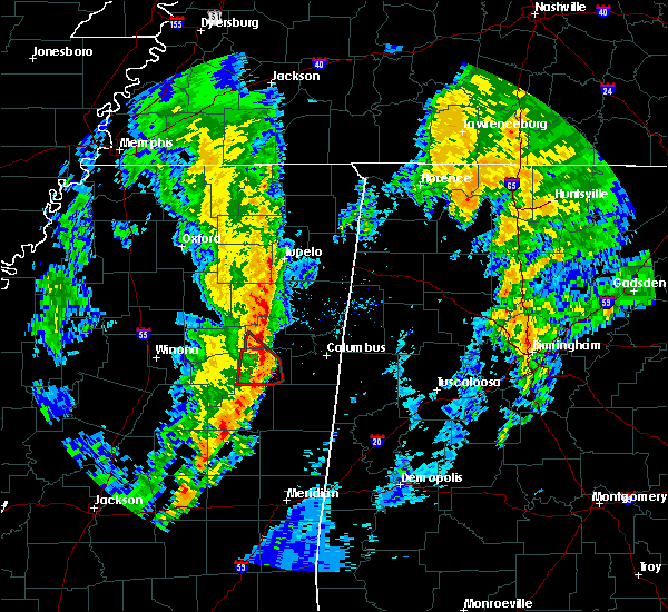 Radar Image for Severe Thunderstorms near Mississippi State, MS at 12/29/2019 4:45 PM CST