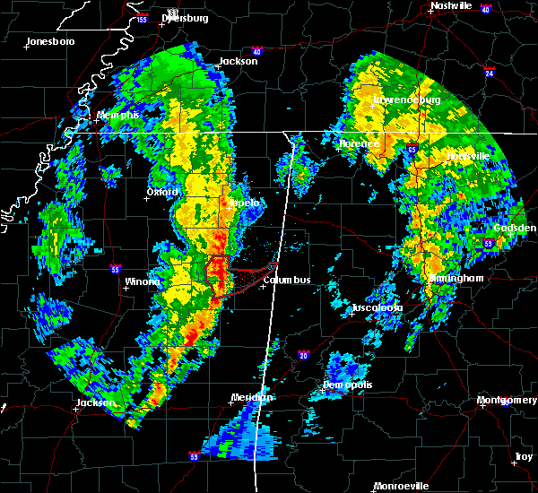 Radar Image for Severe Thunderstorms near Hamilton, MS at 12/29/2019 4:55 PM CST