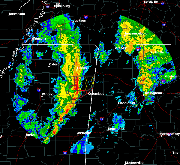 Radar Image for Severe Thunderstorms near Hamilton, MS at 12/29/2019 5:02 PM CST