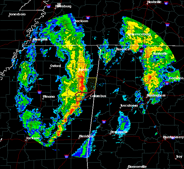 Radar Image for Severe Thunderstorms near Hamilton, MS at 12/29/2019 5:08 PM CST