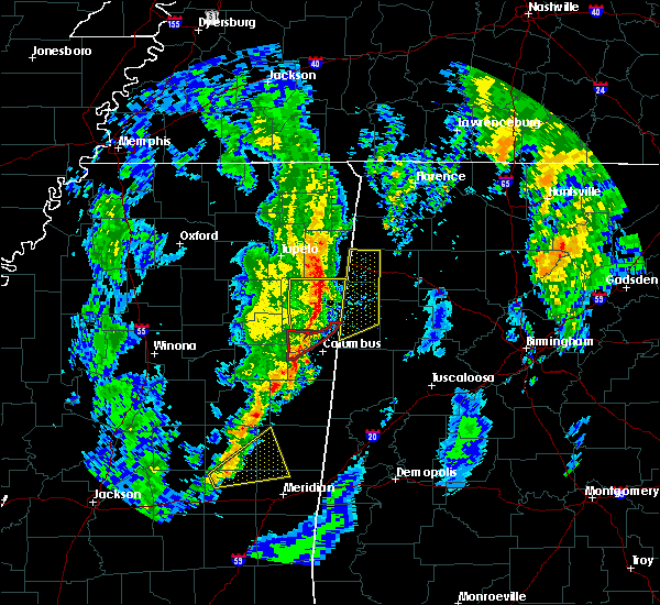 Radar Image for Severe Thunderstorms near Hamilton, MS at 12/29/2019 5:18 PM CST