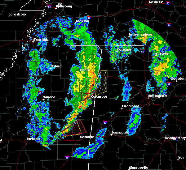 Radar Image for Severe Thunderstorms near Hamilton, MS at 12/29/2019 5:26 PM CST