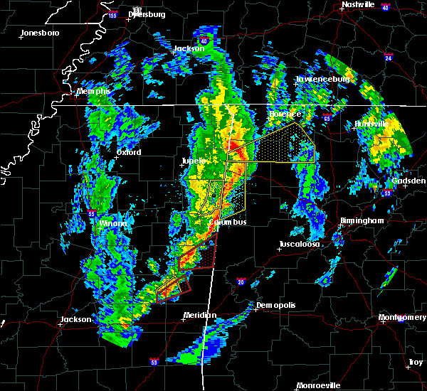 Radar Image for Severe Thunderstorms near Hamilton, MS at 12/29/2019 5:43 PM CST