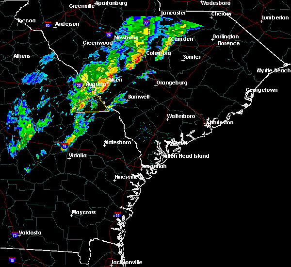 Radar Image for Severe Thunderstorms near Waynesboro, GA at 1/3/2020 6:20 PM EST