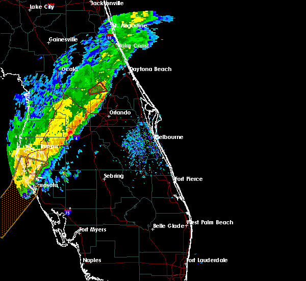 Radar Image for Severe Thunderstorms near North DeLand, FL at 1/4/2020 11:19 AM EST