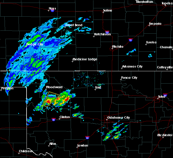 Radar Image for Severe Thunderstorms near Vici, OK at 1/10/2020 8:07 AM CST