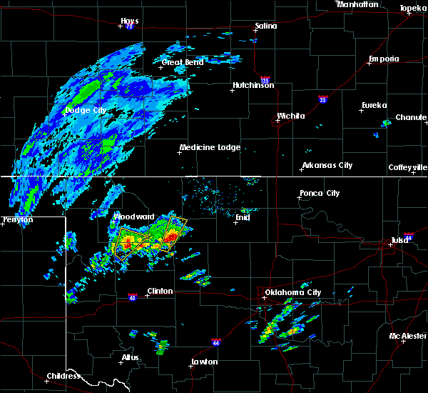 Radar Image for Severe Thunderstorms near Vici, OK at 1/10/2020 8:17 AM CST