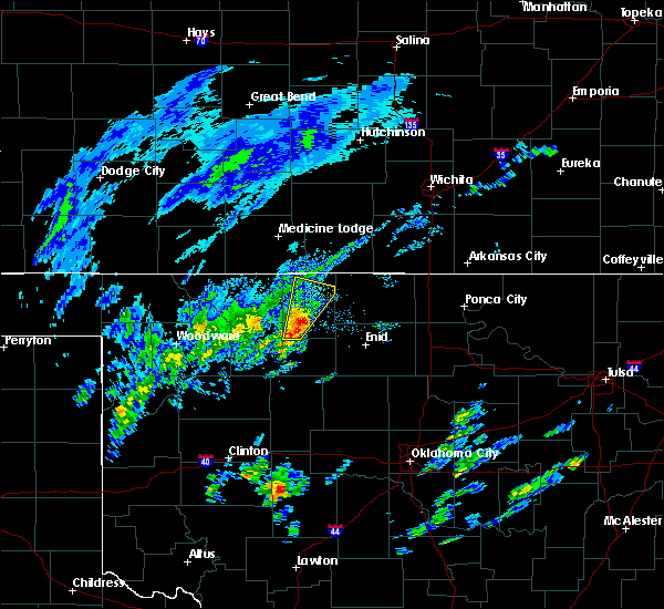 Radar Image for Severe Thunderstorms near Byron, OK at 1/10/2020 8:57 AM CST