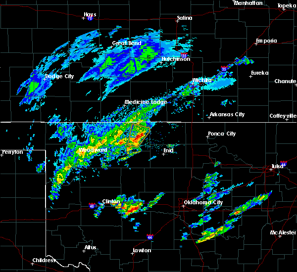 Radar Image for Severe Thunderstorms near Byron, OK at 1/10/2020 9:15 AM CST