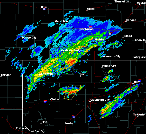 Radar Image for Severe Thunderstorms near Loyal, OK at 1/10/2020 9:48 AM CST