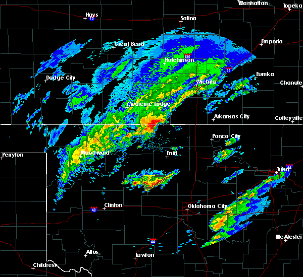 Radar Image for Severe Thunderstorms near Loyal, OK at 1/10/2020 10:02 AM CST