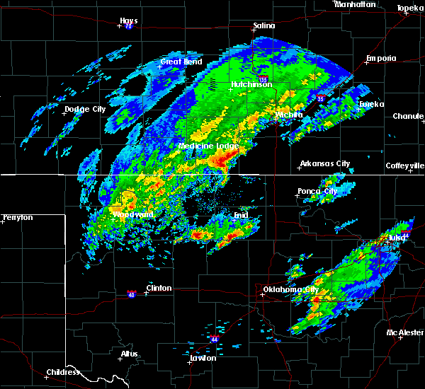 Radar Image for Severe Thunderstorms near Bluff City, KS at 1/10/2020 10:18 AM CST