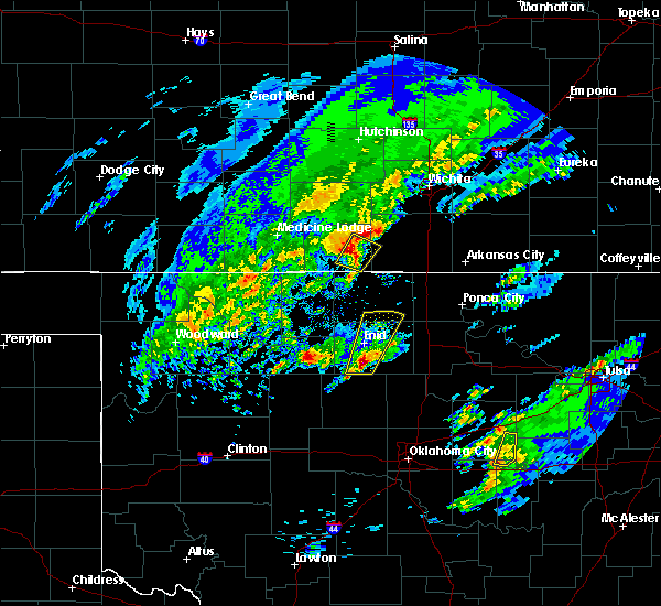 Radar Image for Severe Thunderstorms near Bluff City, KS at 1/10/2020 10:28 AM CST