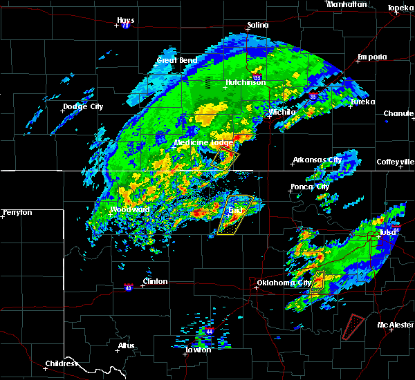 Radar Image for Severe Thunderstorms near Ringwood, OK at 1/10/2020 10:36 AM CST