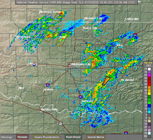 Radar Image for Severe Thunderstorms near Lamar, OK at 1/10/2020 10:41 AM CST