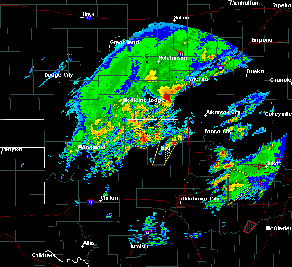 Radar Image for Severe Thunderstorms near Helena, OK at 1/10/2020 10:50 AM CST