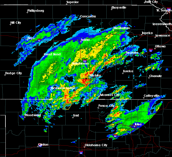 Radar Image for Severe Thunderstorms near Oxford, KS at 1/10/2020 11:22 AM CST