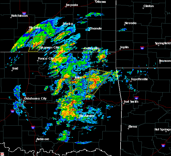 Radar Image for Severe Thunderstorms near Oakhurst, OK at 1/10/2020 11:38 AM CST