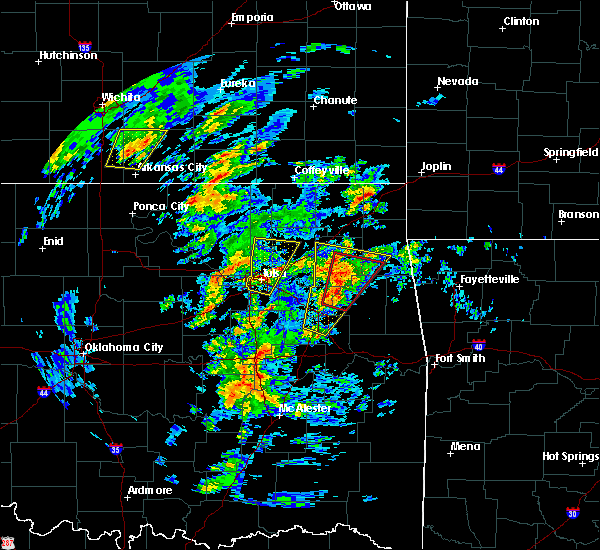 Radar Image for Severe Thunderstorms near Leach, OK at 1/10/2020 11:44 AM CST