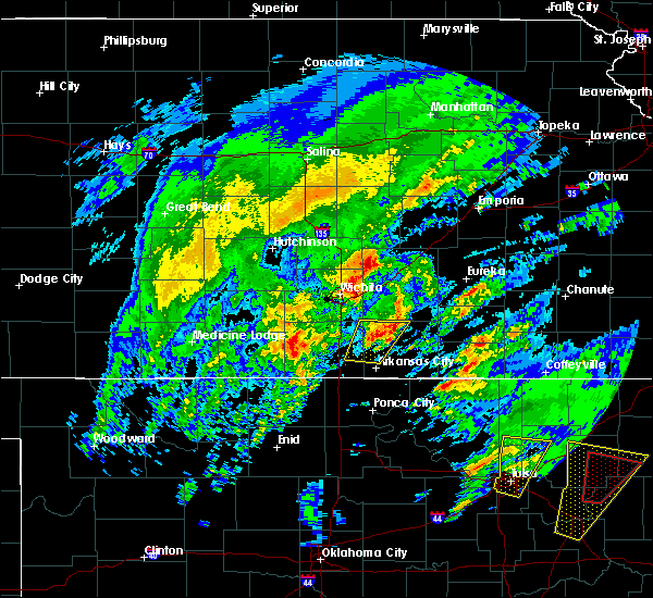 Radar Image for Severe Thunderstorms near Udall, KS at 1/10/2020 11:49 AM CST